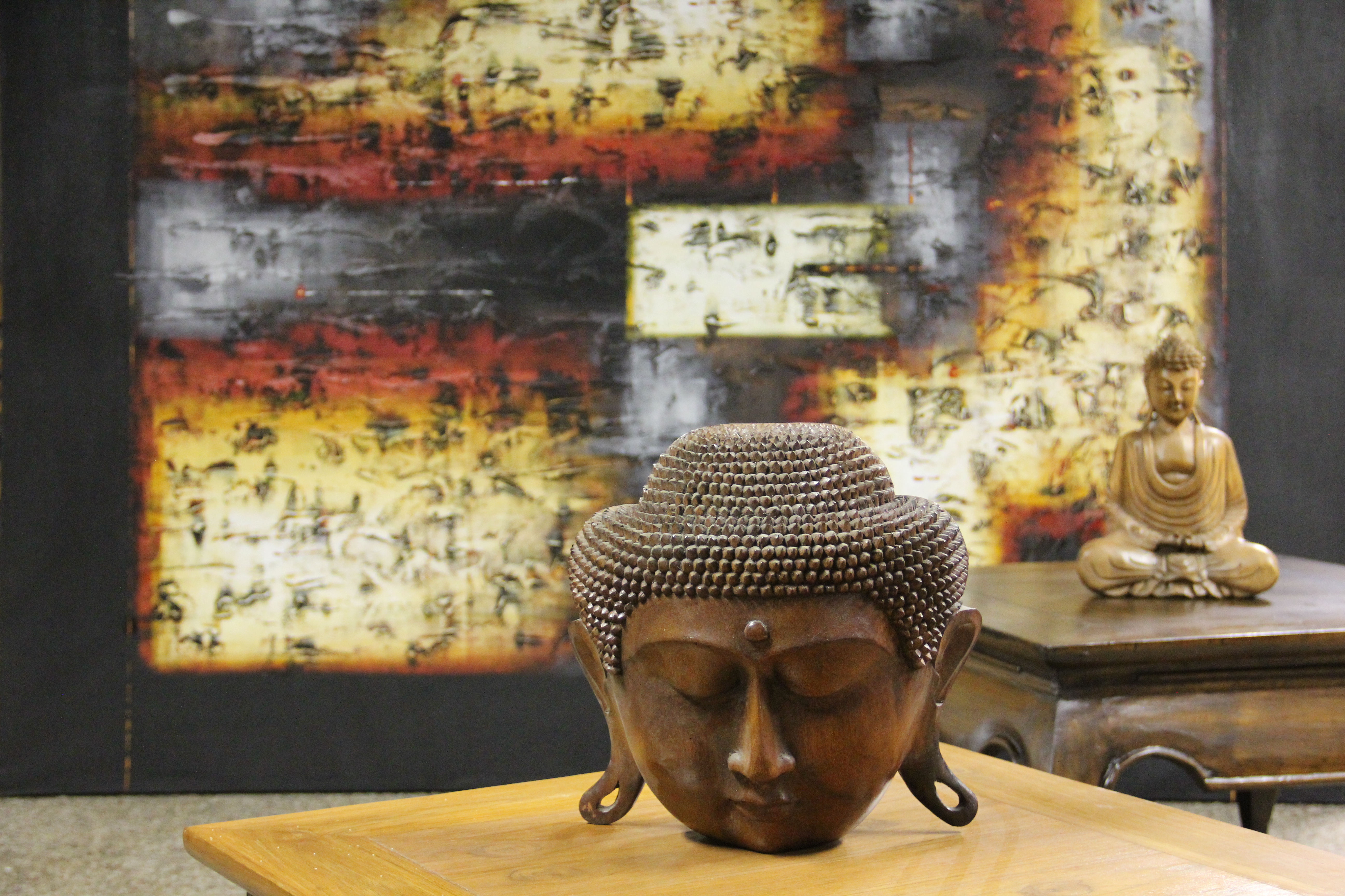 Solid Buddha Art Pieces