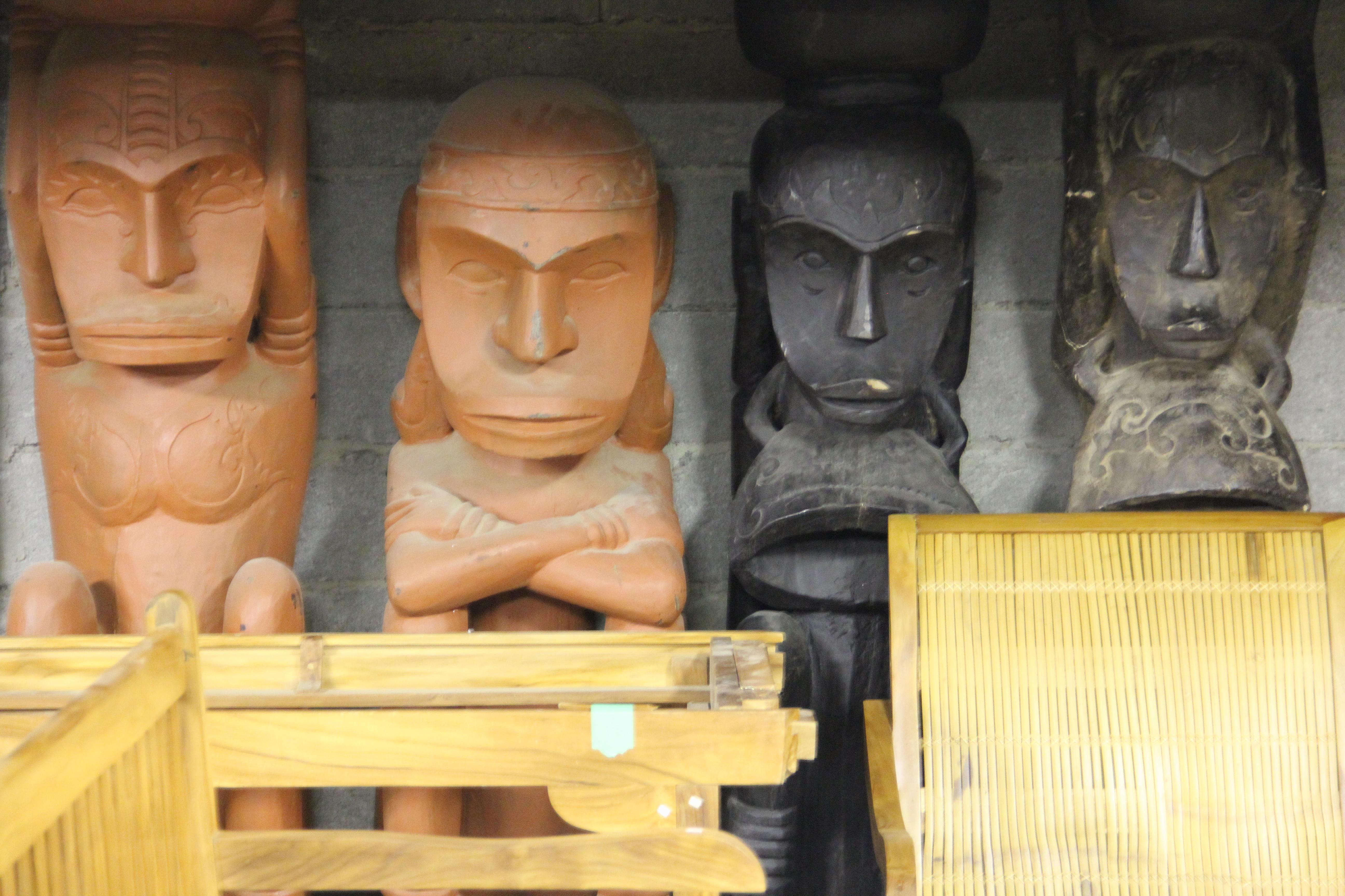 Solid Carved Wood Monkey Men