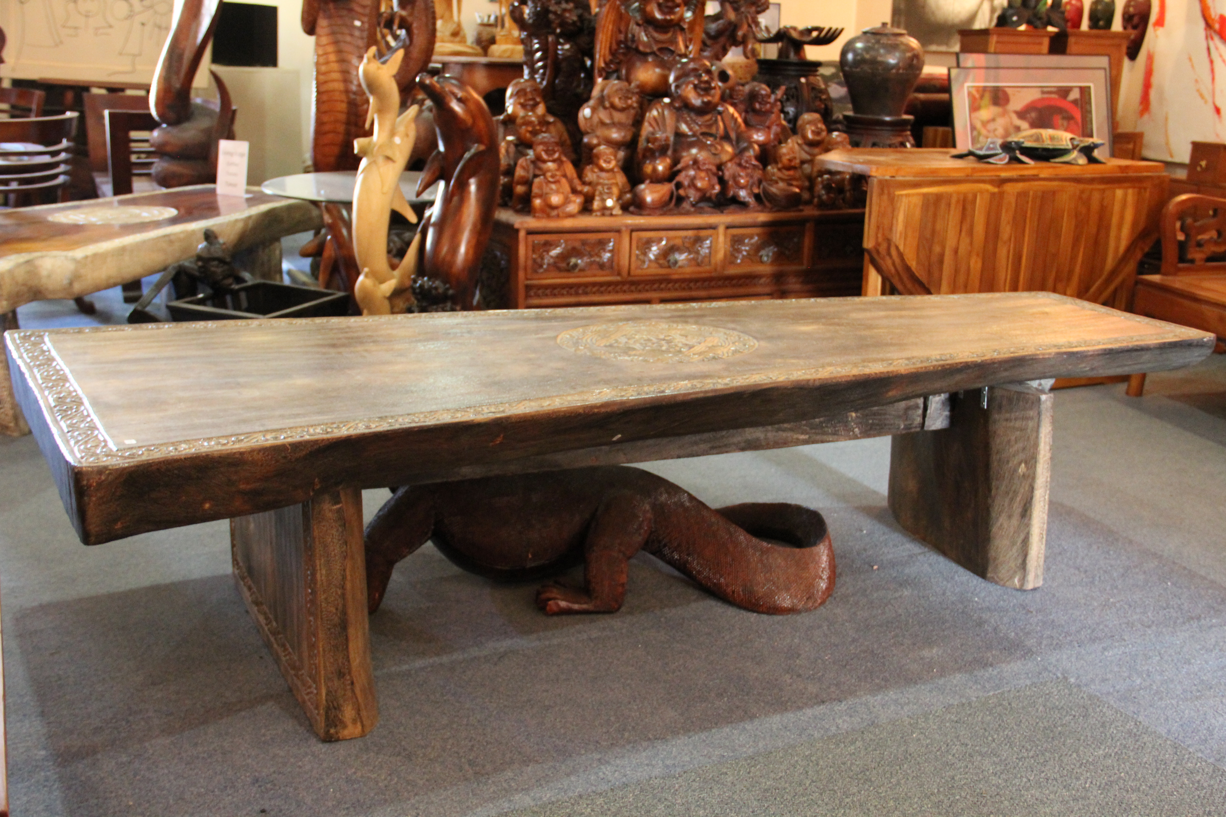 Holland Teak Living Edge Bench