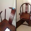 repaired mahogany chair
