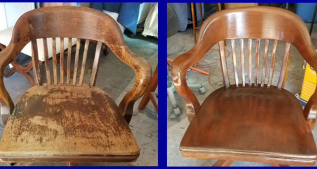 refinished dining room chair