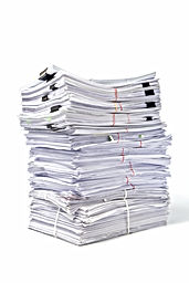 Stack of Documents isolated on white bac