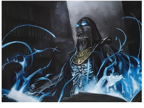 Lich Sorcerer, Acrylic on canvas (500x400mm)