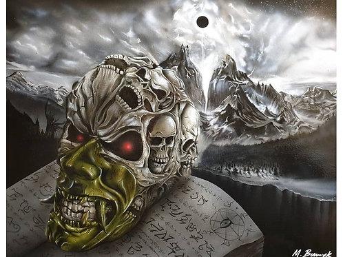 """Moonspell"" Acrylic on canvas (500x400mm)"