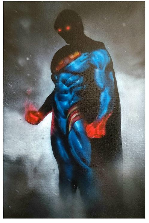 Dark superman, Acrylic on canvas (300x200mm)