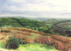 Horseshoe pass - Wales - pastel.jpg
