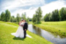 Brudebilde i landskap. Brudebilde