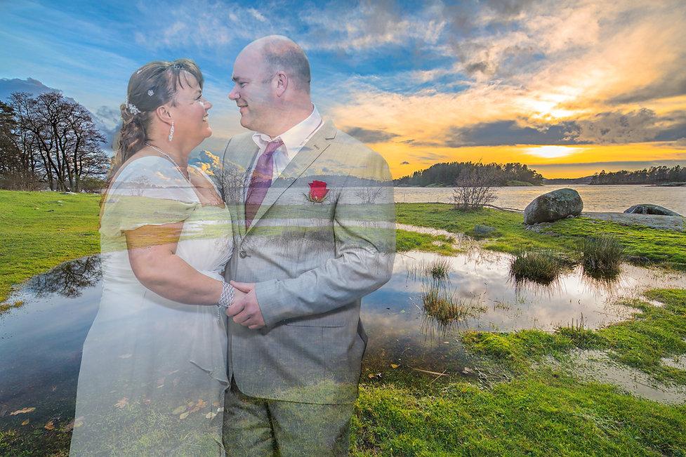 Sesielt bryllupsbilde tatt av fotogrfen Atle Slettingdalen