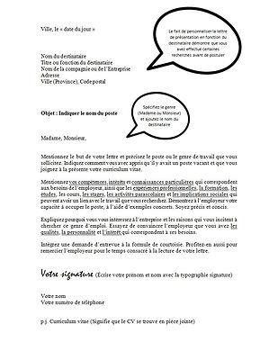Lettre de présentation - Projet Intégration Autismopolis