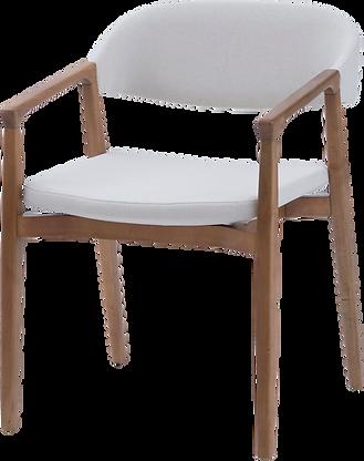 Cadeira Cora com braço - Tapeçaria lisa