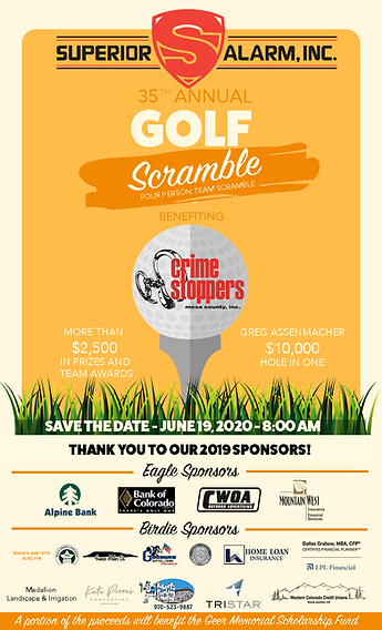 2020 Crime Stoppers Golf Tournament Save