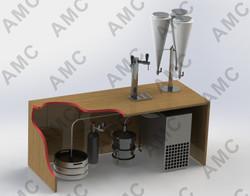3D подстоечный сатуратор с напитком монтаж с водяными знаками