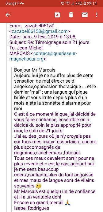 Temoignage JM Marçais Guerisseur