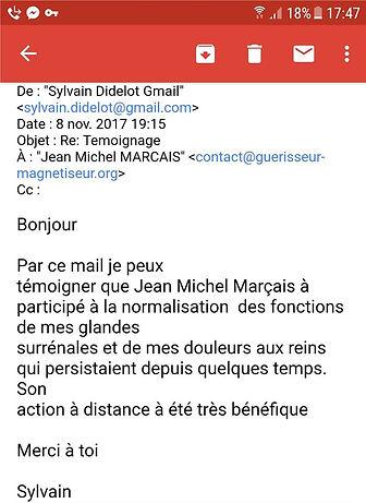 Temoignage JM Marçais Guerisseur Magnetiseur