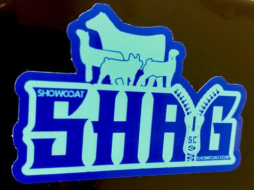 Shag Die Cut Sticker