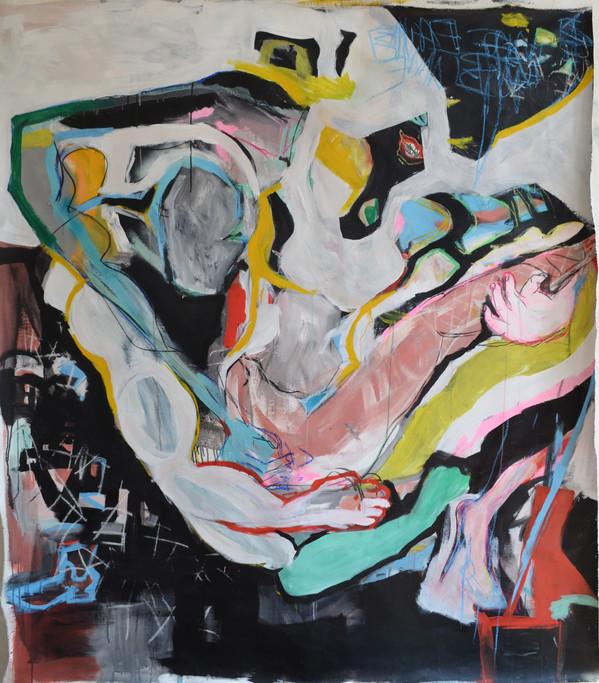 gros bras (technique mixte sur toile 160x180cm)