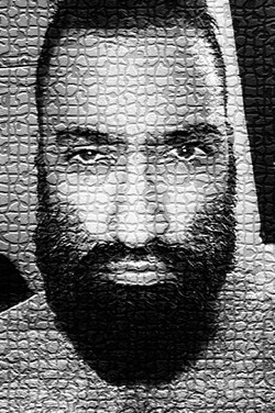 FACE IN MOSAIC TILES