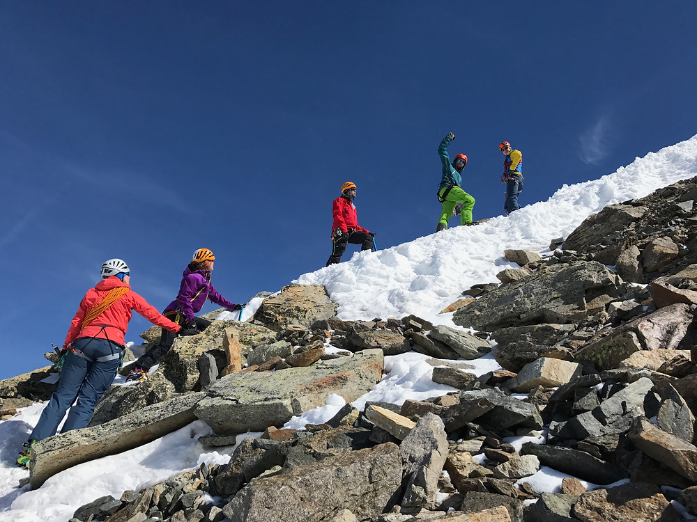 Climbing Piz Buin