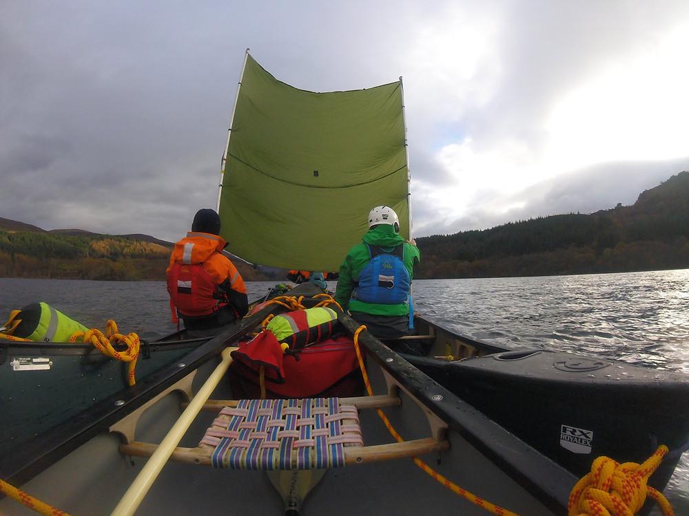 Canoe Sailing on a Coach Education course