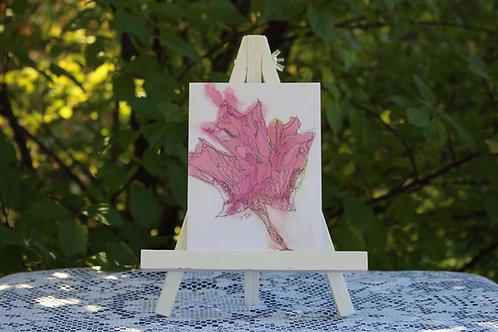 Autumn Maple Leaf Small Card