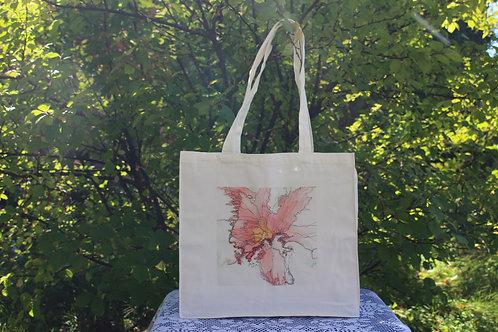 Canvas Tote Bag - Orange Lily
