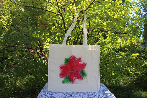 Canvas Tote Bag - Poinsetta