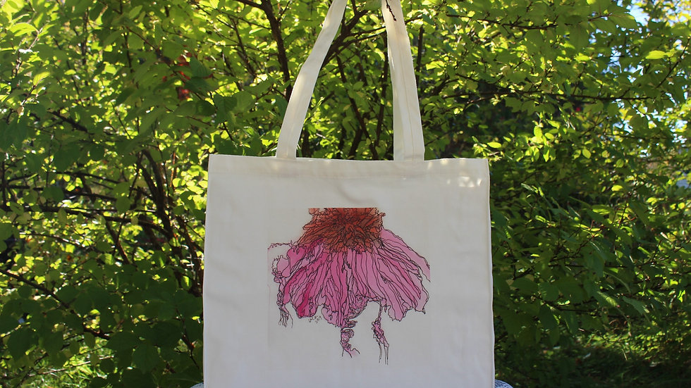 Canvas Tote Bag - Cone Flower