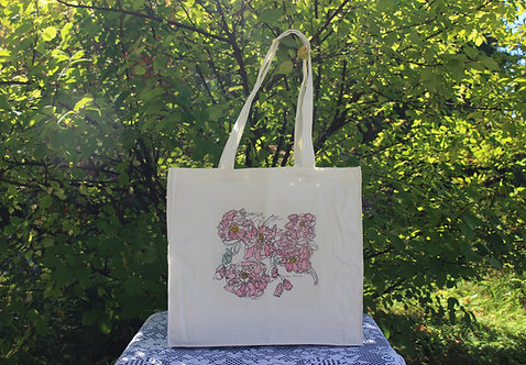 Canvas Tote Bag - Rosa Mundi