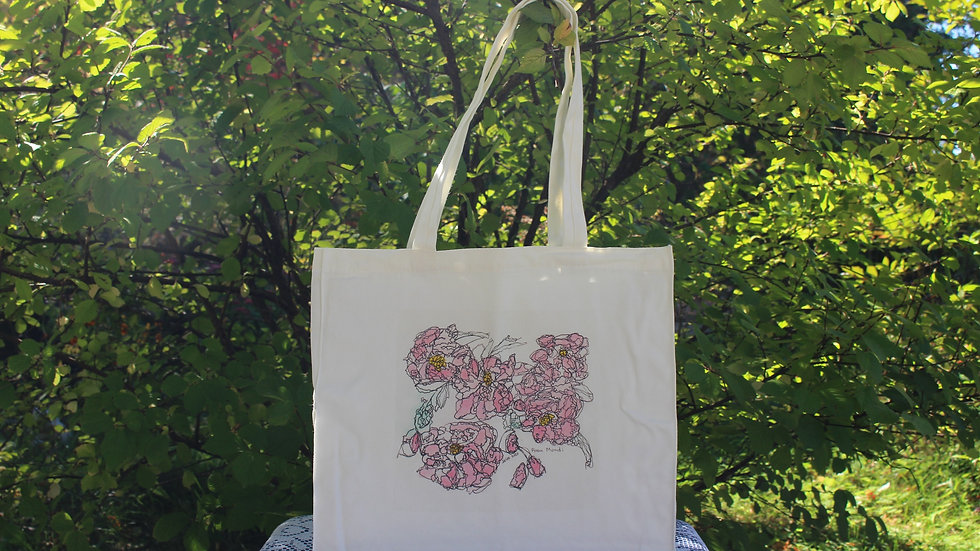 Canvas Tote Bag - Rosa Mundi