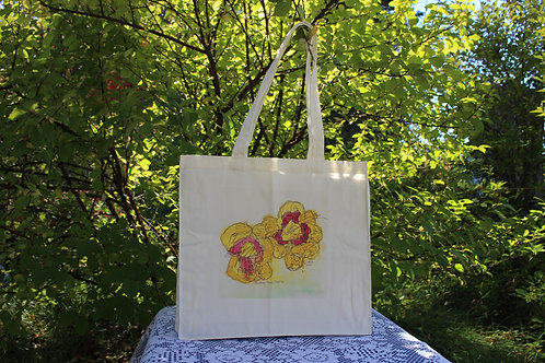 Canvas Tote Bag - Custard Candy Daylily