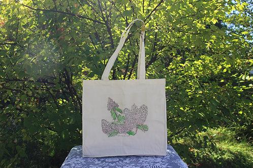 Canvas Tote Bag - Vanilla Strawberry Hydrangea