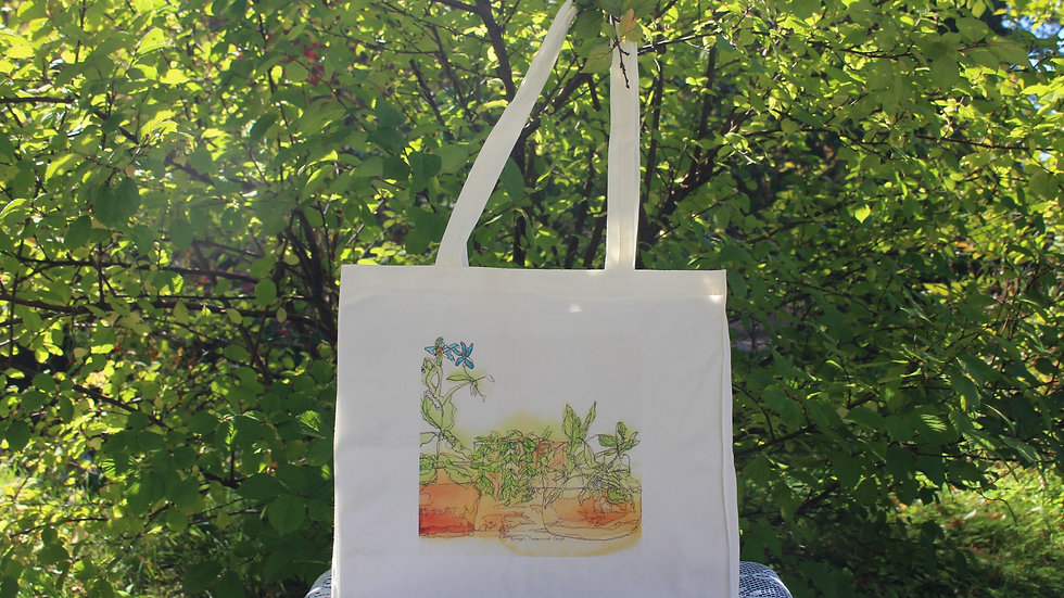 Canvas Tote Bag - Borage, Sage and Thyme