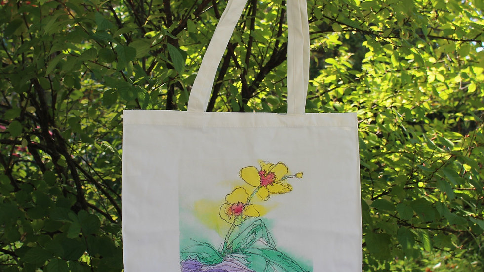 Canvas Tote Bag - Orchid