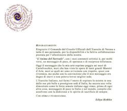 CIRCOLO UFFICIALI ESERCITO VERONA - Liliya Kishkis tingraziamento 18-6-2012