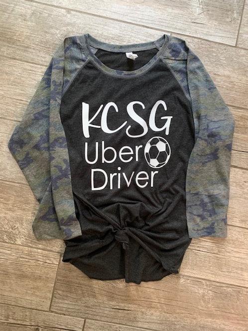 KCSG Uber Driver Camo Raglan