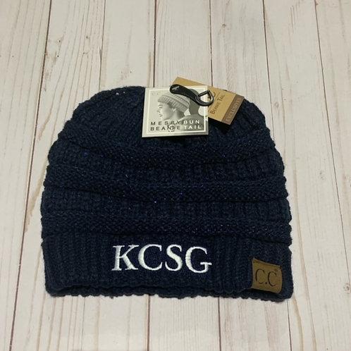 KCSG ponytail beanie