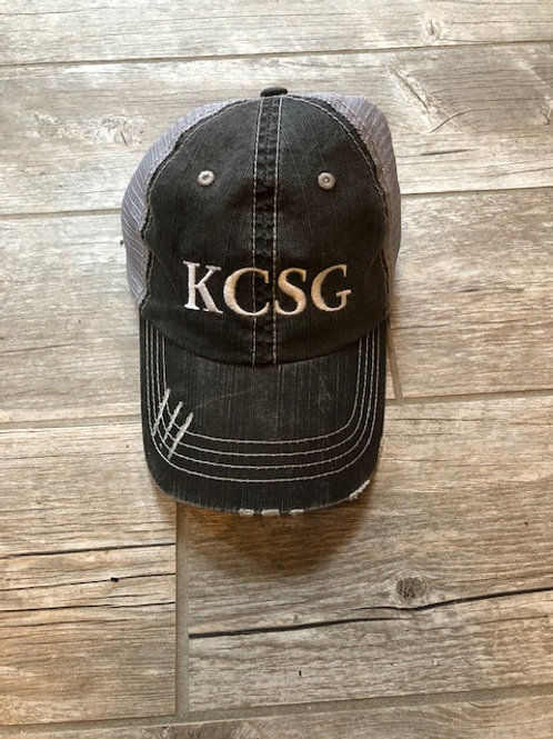 KCSG Distressed Trucker Hat