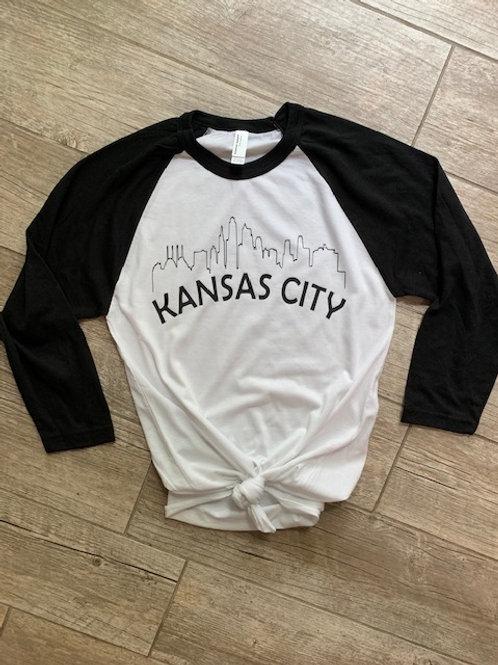 Kansas City Skyline Raglan