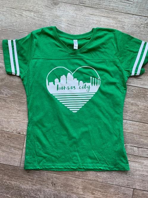 KC heart green