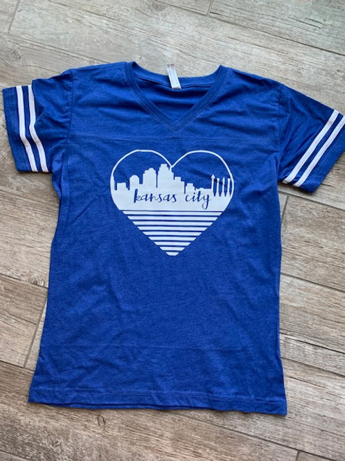 KC heart blue