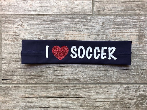 "I love ""soccer"" headband"