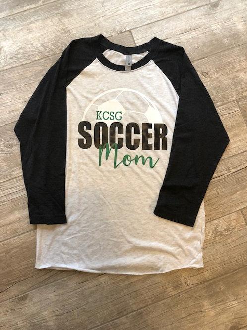Women's KCSG Soccer Mom Raglan