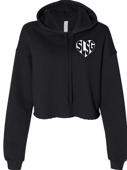 SLSG heart cropped hoodie