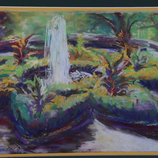 Gresham Garden,Bethany College (pastel painting)