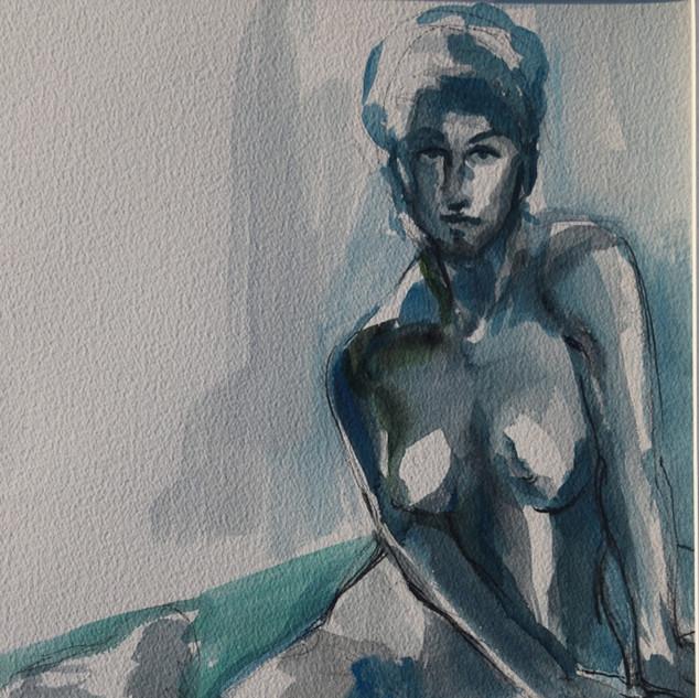 Blue Nude (watercolor)