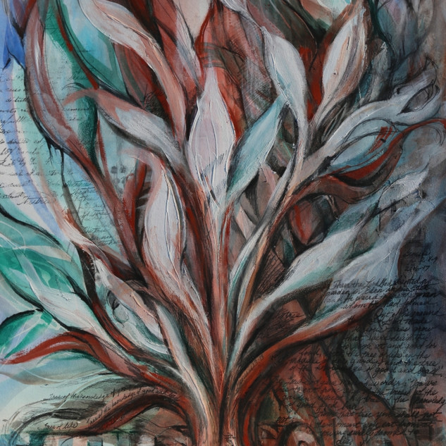 Tree In The Garden (mixed-media)