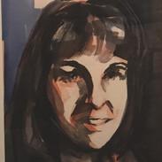 Selfie (watercolor)