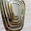 Thumbnail: Série de 5 miroirs doré