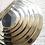 Thumbnail: série de 5 miroirs dorés