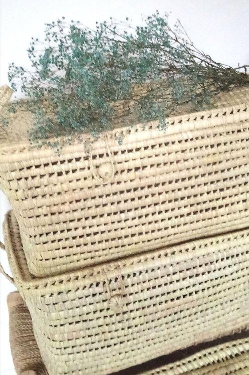 Malle de rangement en fibre naturelle